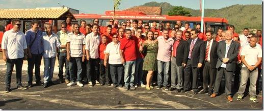 Personalidades presentes na inauguração do Transpote Publico Gratuito de Maricá