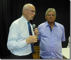 Senador Eduardo Matarazzo Suplicy e o Secretário Municipal de Cultura de Maricá Sergio Mesquita