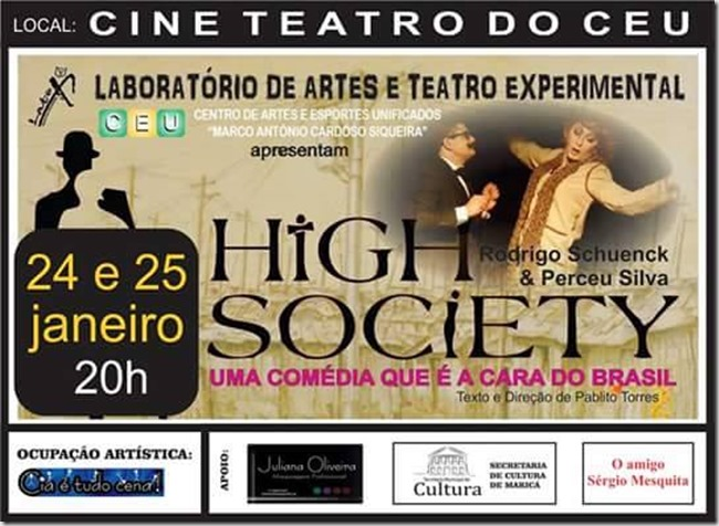 CARTAZ DA COMÉDIA HIGH SOCIETY