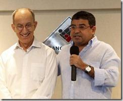 Presidente Nacional do PT Rui Falcão e o Presidente Estadual do PT RJ e o Prefeito de Maricá Washington Quaquá