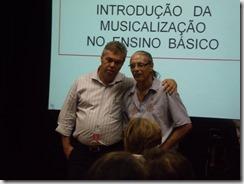 Secretário Municpal de Educação de Maricá Willian Campos e o professor Sergio Aranda