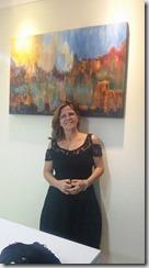 Meg Carvalho recebeu medalha de Ouro no I Salão de Belas Artes de Maricá