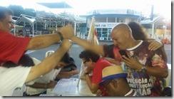 na apuração no Terreirão do Samba