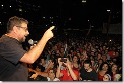 Discurso de Quaquá no ato contra o golpe Largo da Carioca