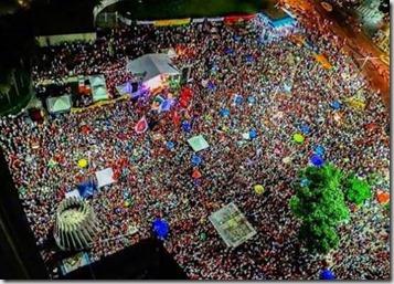 Largo da Carioca, centro do Rio, tomado por pessoas de todas as tribos, partidos e classes sociais. Nosso mandato marcou presenca pra dizer