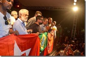 Quaquá no Largo da Carioca contra o golpe