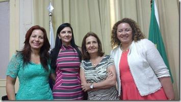 Deputada Zeidan e companheiras de luta