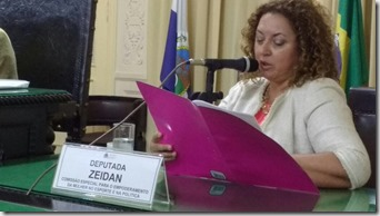 Deputada Zeidan na Alerj