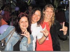 Andrea Cunha com Monica Rigó e Dalva Alves