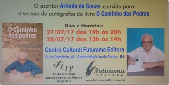 Escritor Arlindo Souza na FLIP 2017