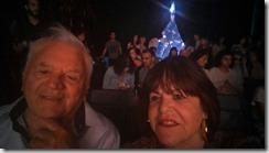 O escritor e empresário Arlindo de Souza e Myrian Fagundes, prestigiando Espaço Arena na Feira de São Matheus em Viseu, Portugal